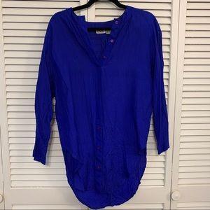 Vintage Silk Blouse - Royal Blue